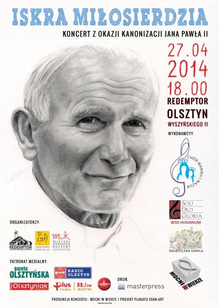 Plakat Iskra MIłosierdzia - projekt TrzeciakiewiczDesign